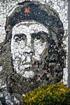 Che Guevara stone mural