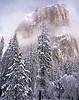 New snow. El Capitan in winter