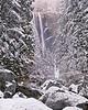 Early season snow, morning, Vernal Falls